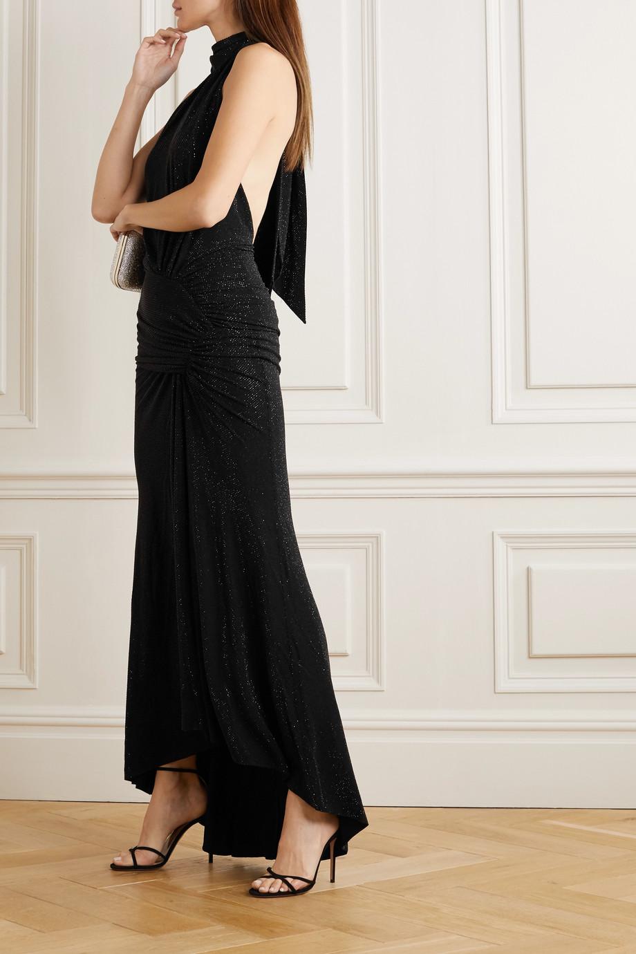 Alexandre Vauthier Crystal-embellished stretch-jersey halterneck gown