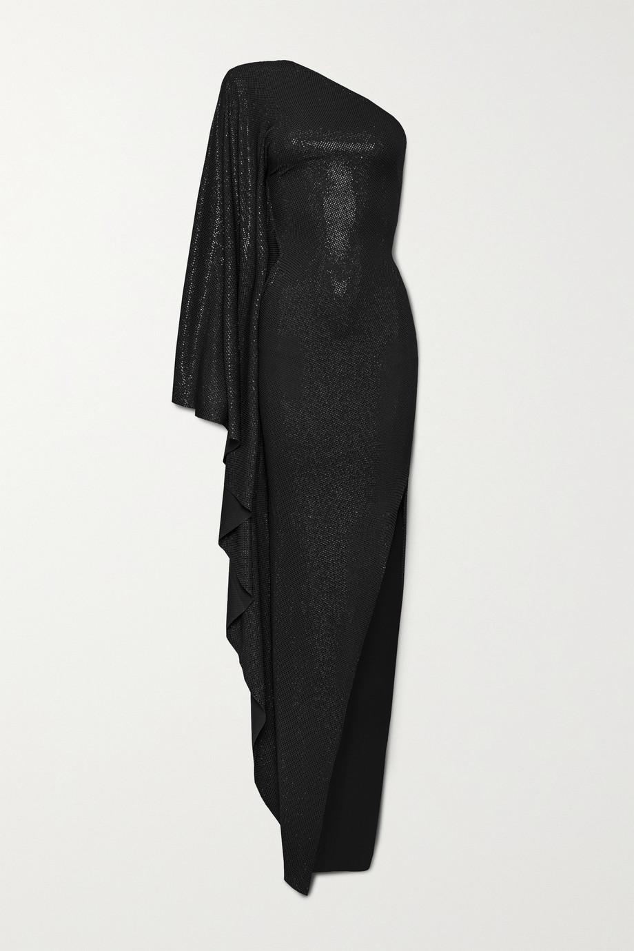 Alexandre Vauthier One-shoulder crystal-embellished stretch-jersey gown