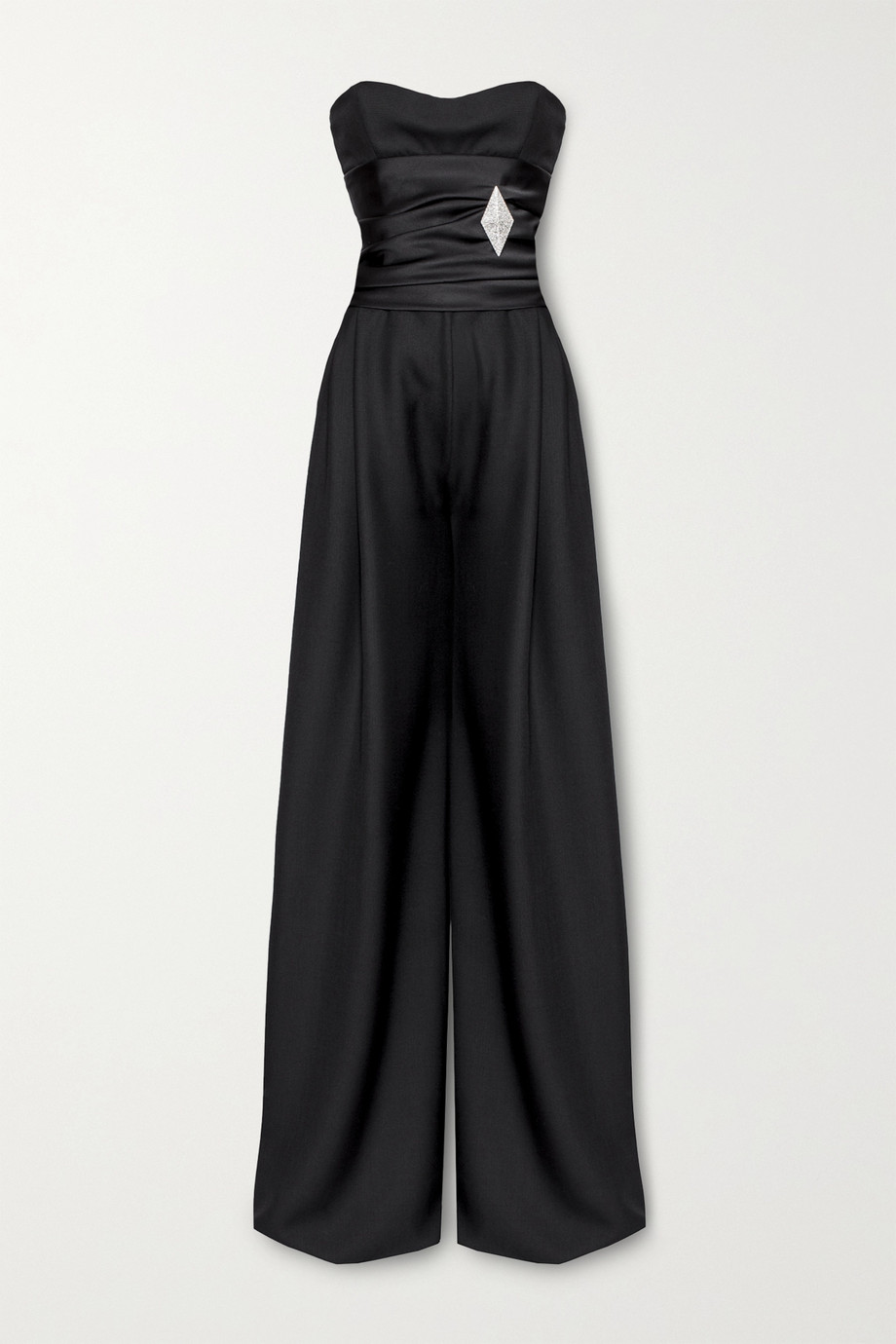 Alexandre Vauthier Strapless embellished wool jumpsuit