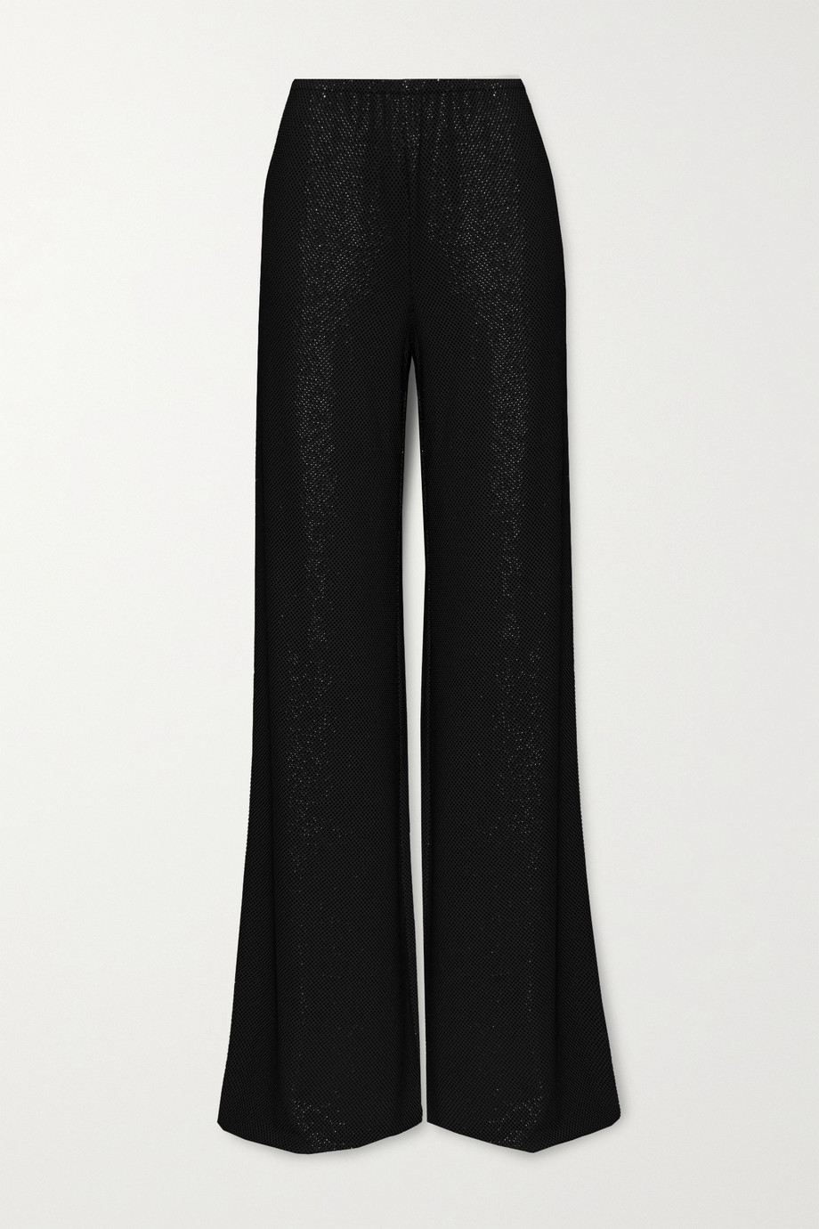 Alexandre Vauthier Crystal-embellished stretch-jersey wide-leg pants