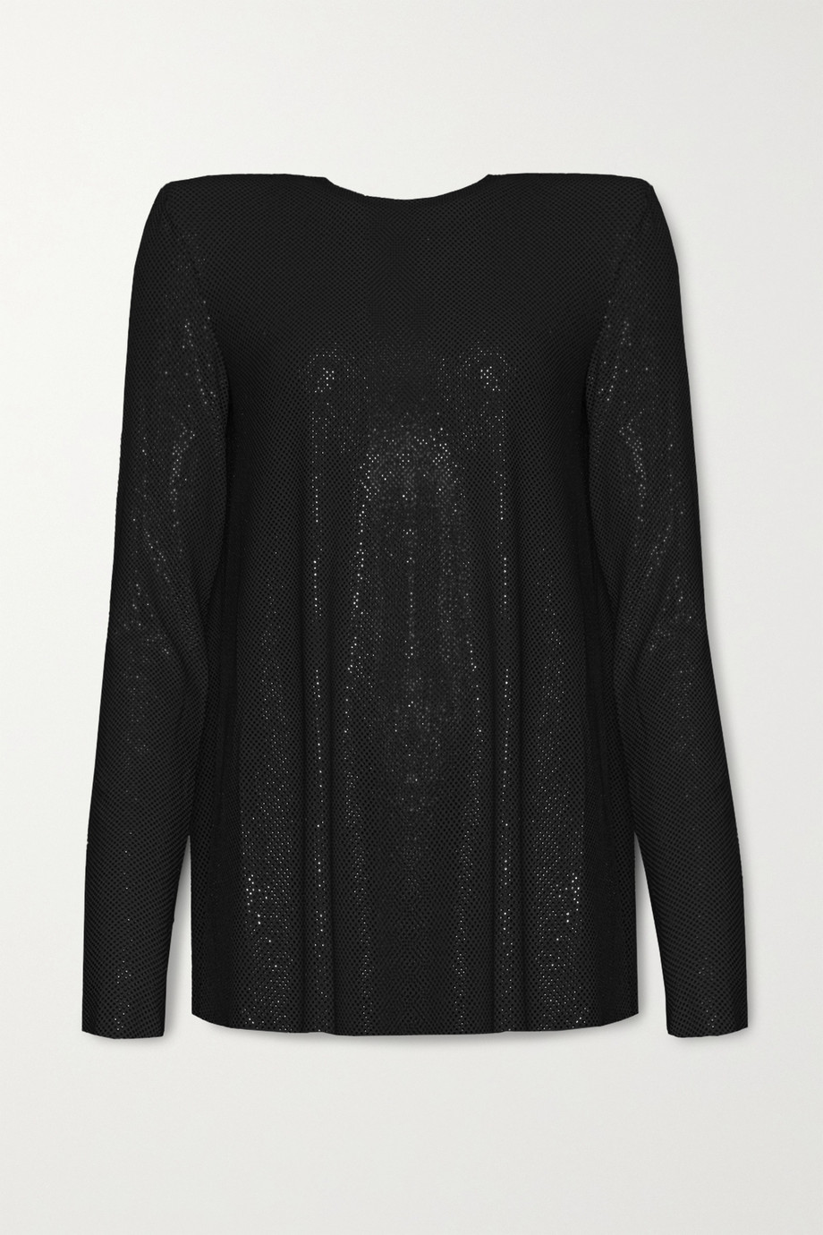Alexandre Vauthier Crystal-embellished stretch-jersey top