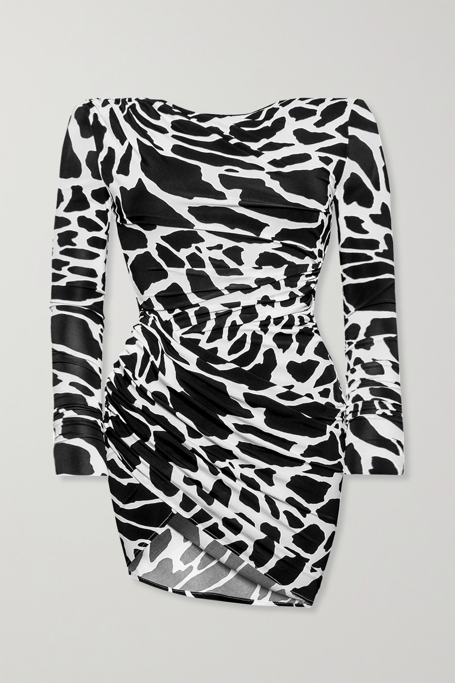 Alexandre Vauthier Ruched printed stretch-jersey mini dress