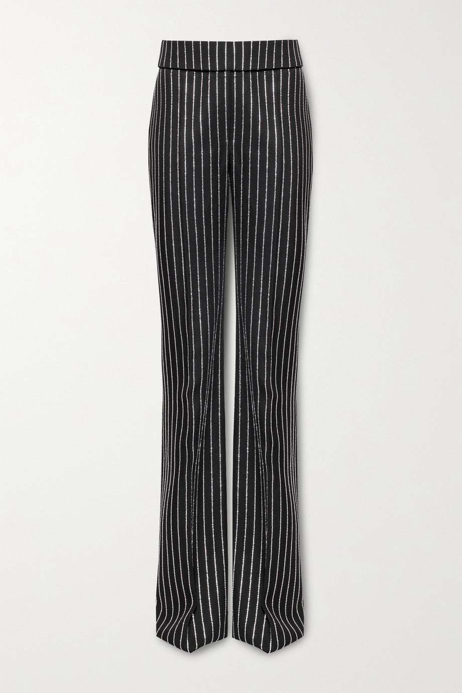 Alexandre Vauthier Hose mit weitem Bein aus Wolle mit Kristallen