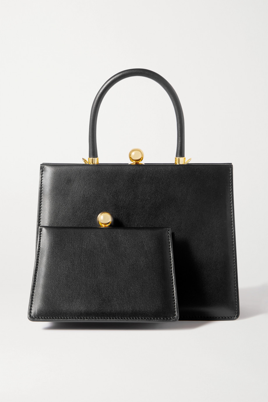 Ratio et Motus Twin Frame leather tote