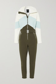 Cordova Alta belted color-block ski suit