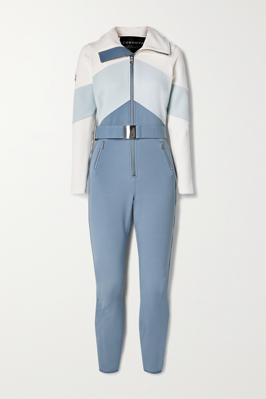 Cordova Alta belted color-block ski suit