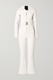 Cordova Signature In The Boot belted striped ski suit