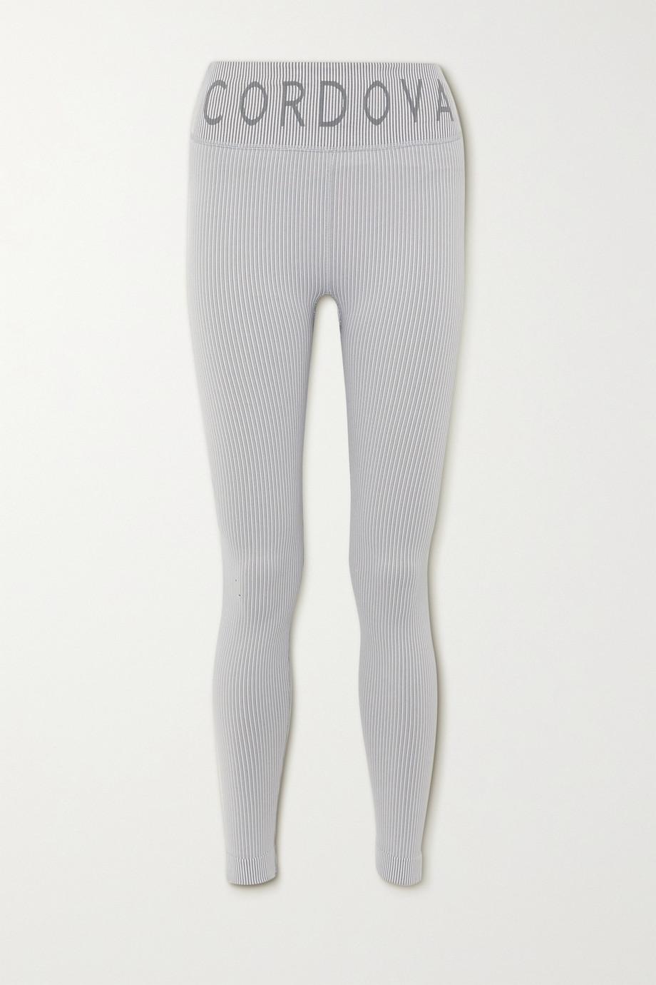Cordova Signature ribbed intarsia stretch-knit leggings