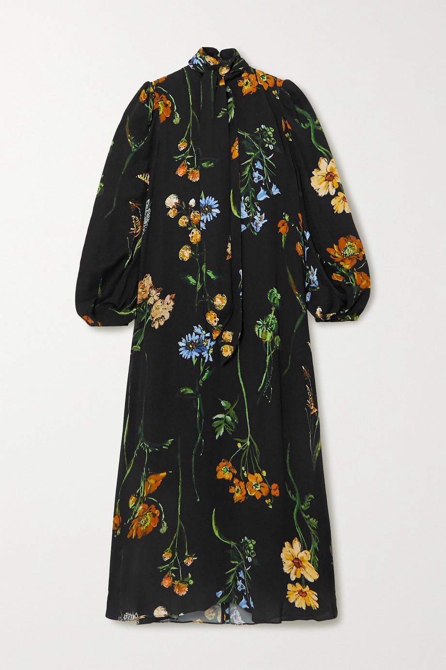Lela Rose Convertible tie-detailed floral-print georgette midi dress