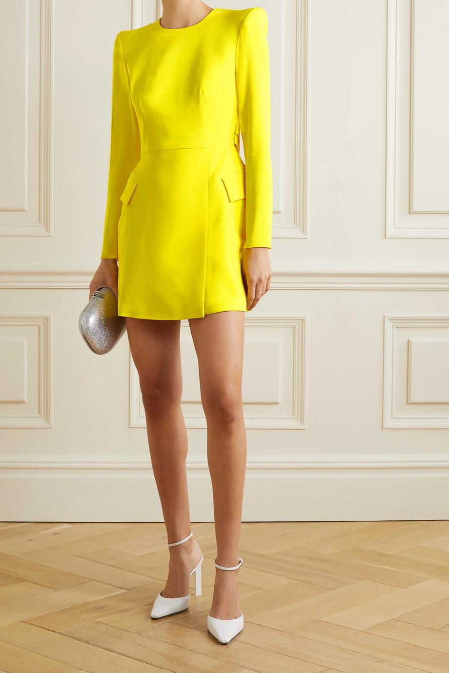 Alex Perry Rae draped satin-crepe mini dress