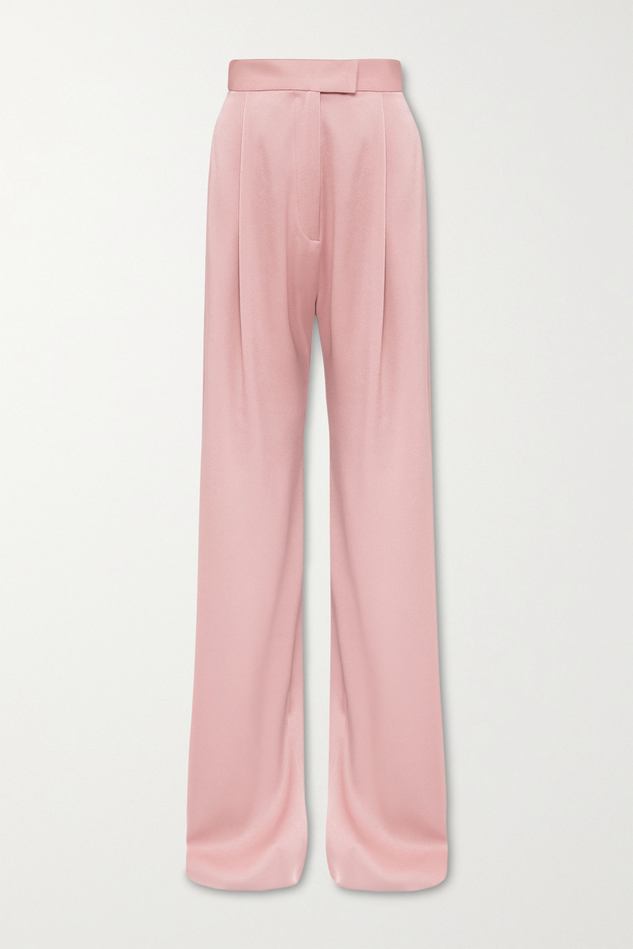 Alex Perry Hartley pleated satin-crepe wide-leg pants
