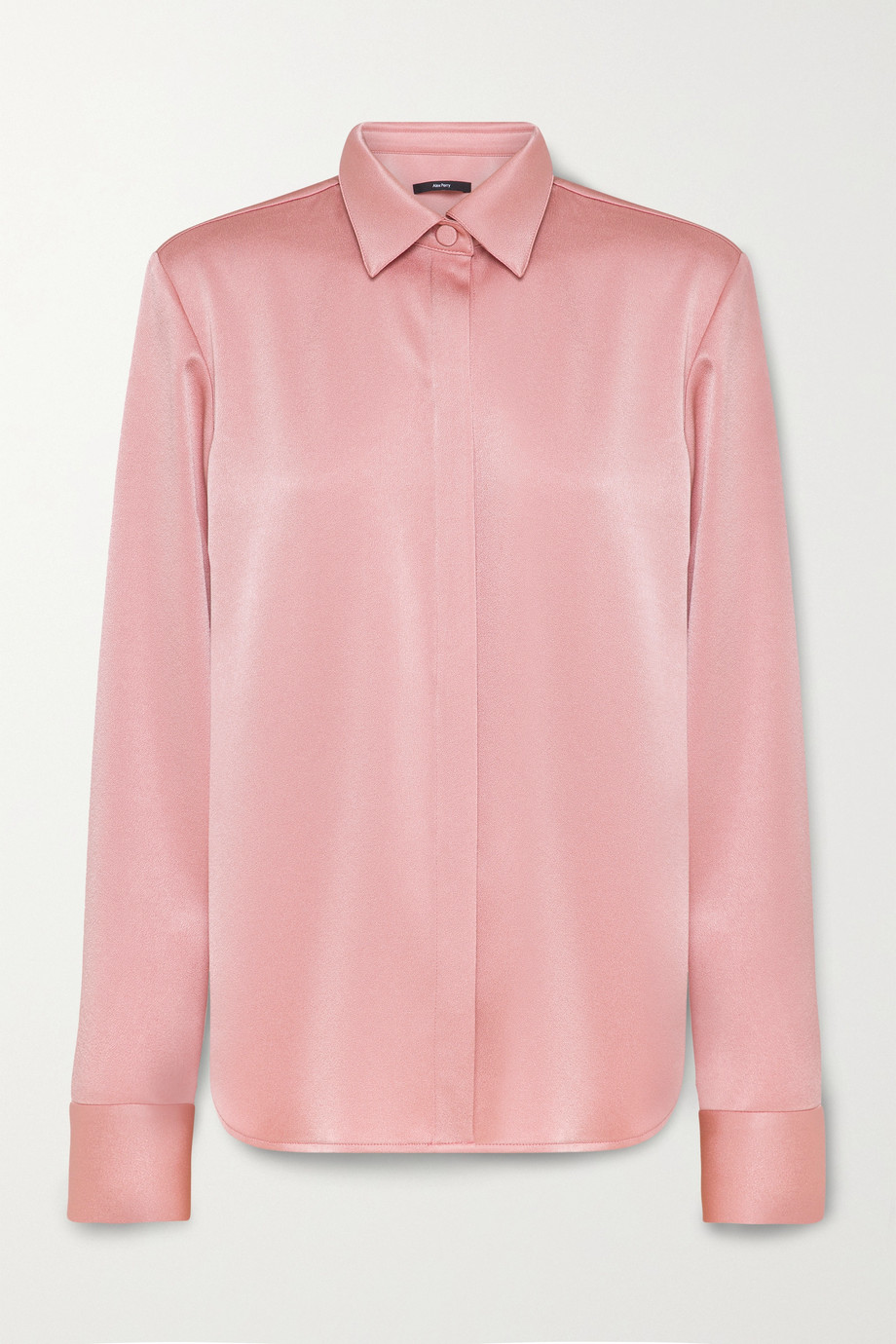 Alex Perry Kristen satin-crepe shirt