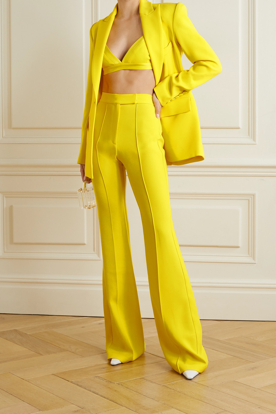 Alex Perry Rene crepe flared pants