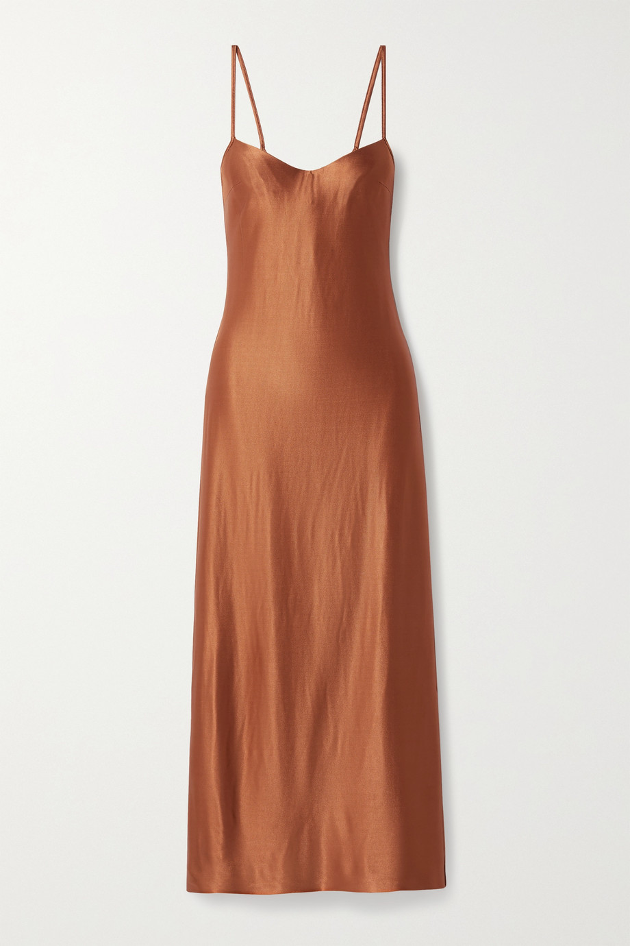Galvan Sahara open-back satin-jersey midi dress