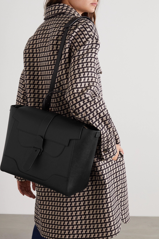 Senreve Maestra convertible textured-leather shoulder bag