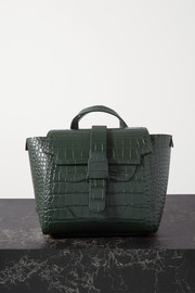 Senreve Mini Maestra convertible croc-effect leather shoulder bag