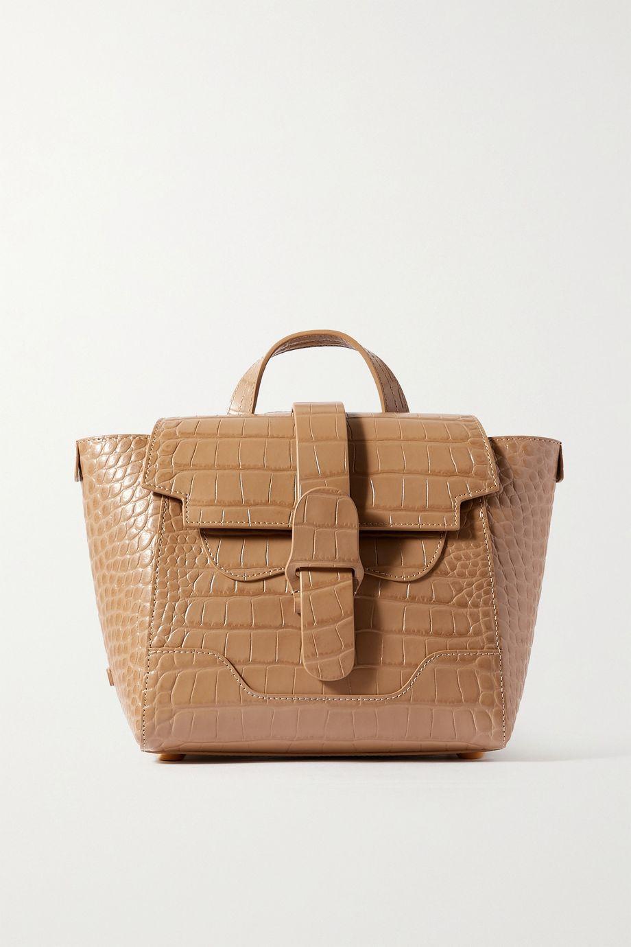 Senreve Mini Maestra convertible croc-effect leather shoulder bag