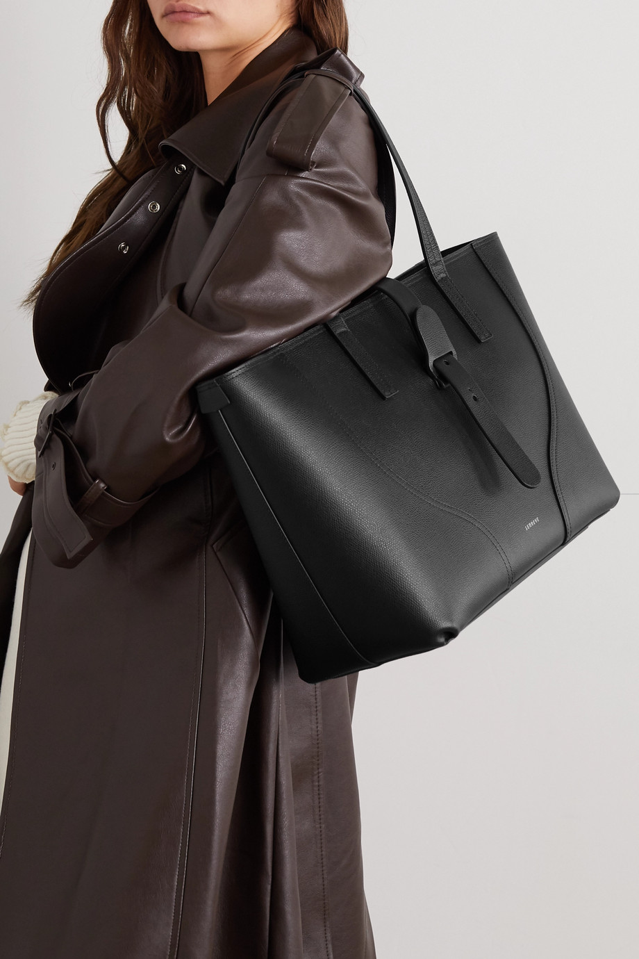 Senreve Voya textured-leather tote
