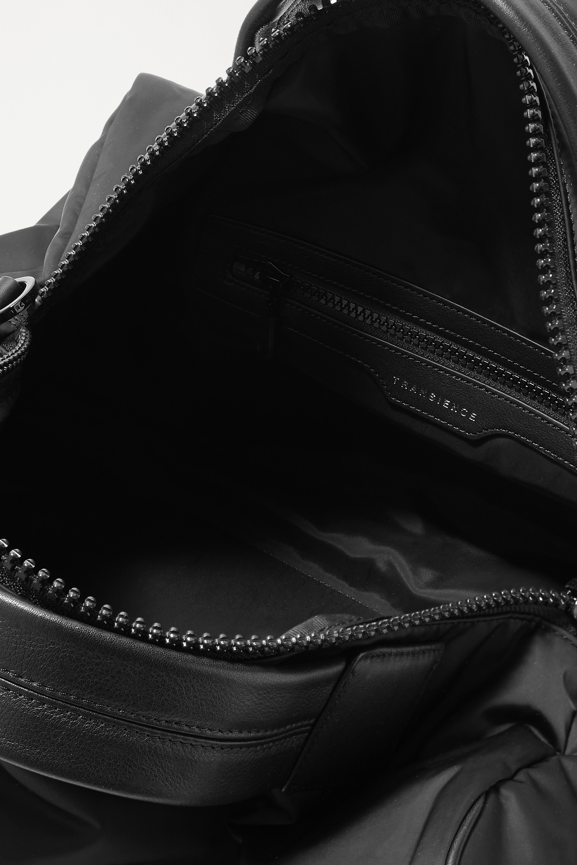 Transience Leather-trimmed shell weekend bag