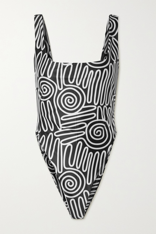 Mara Hoffman + NET SUSTAIN Idalia printed recycled swimsuit