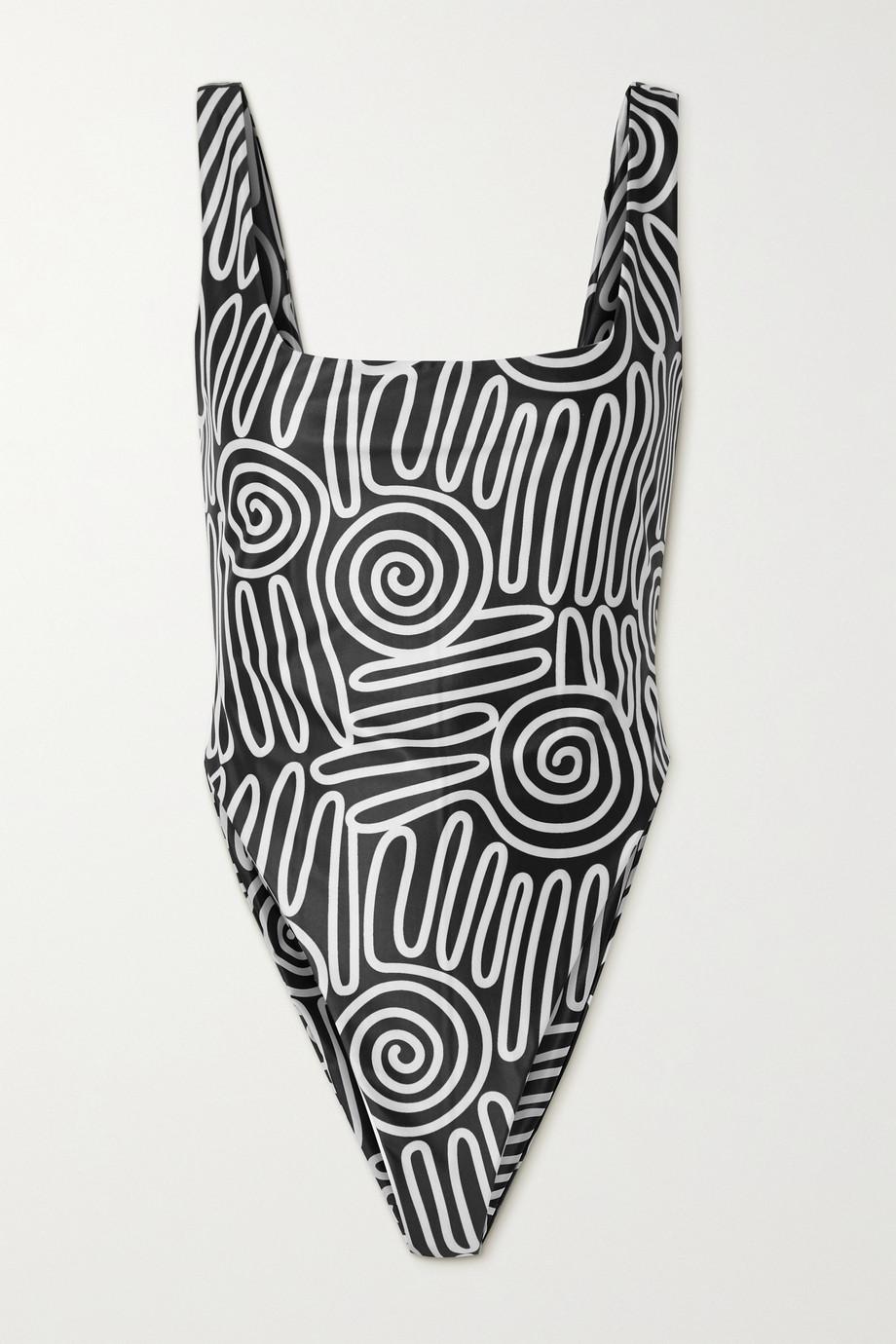 Mara Hoffman + NET SUSTAIN Idalia printed swimsuit