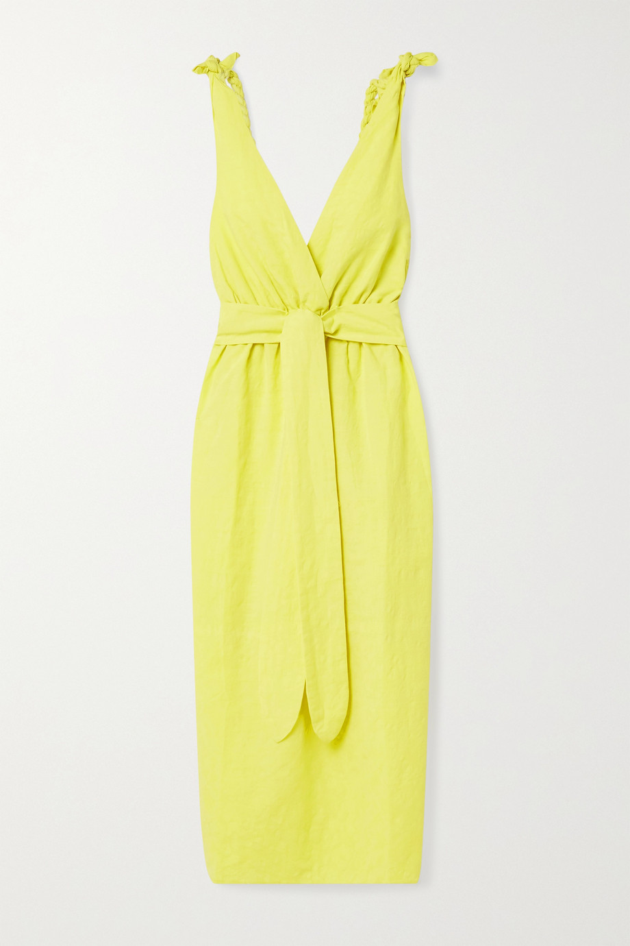 Mara Hoffman + NET SUSTAIN Calypso belted organic cotton and linen-blend midi dress