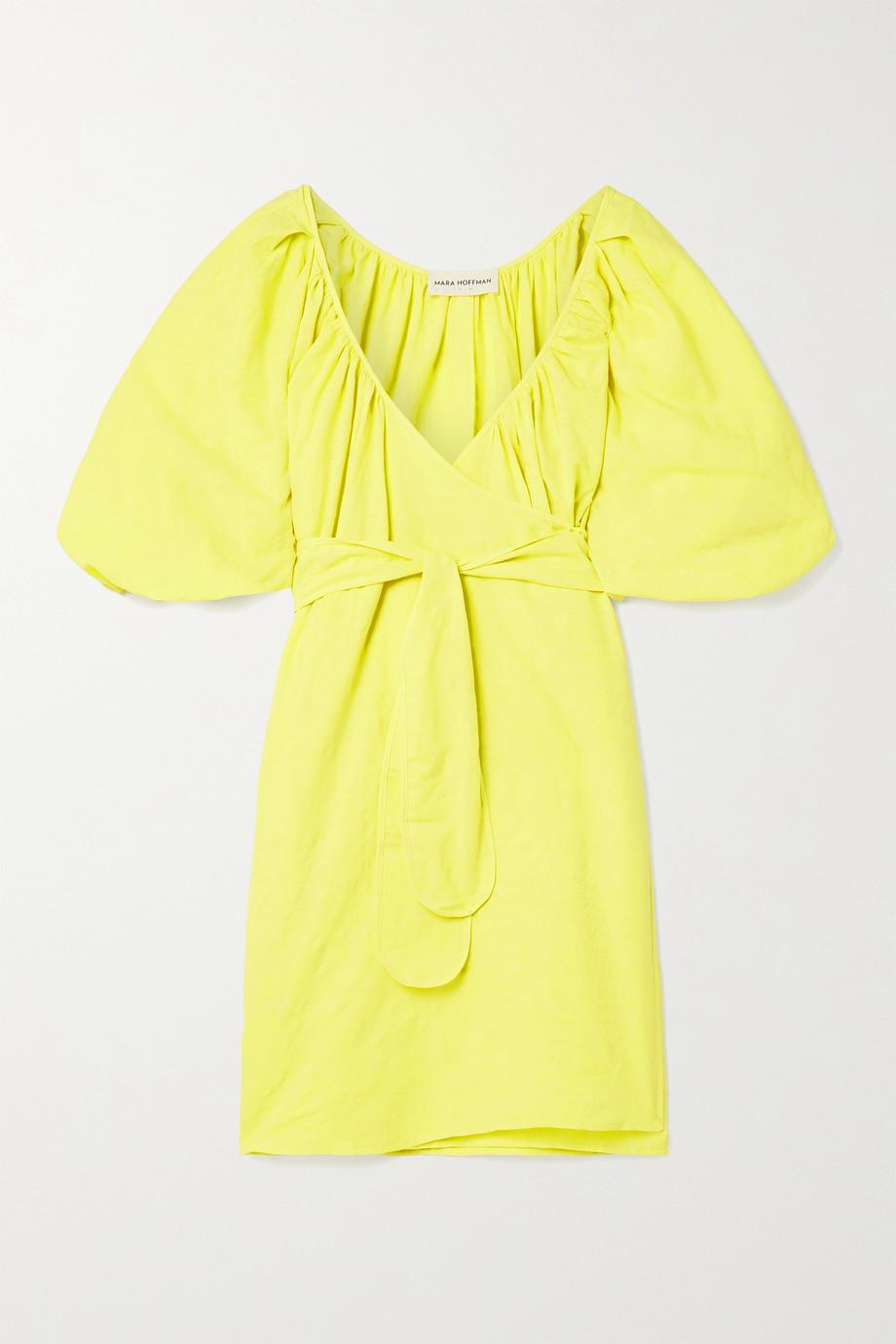 Mara Hoffman Mini-robe portefeuille en coton et lin biologiques mélangés Coletta - NET SUSTAIN