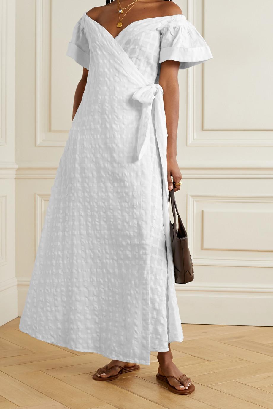 Mara Hoffman + NET SUSTAIN Adelina organic cotton-jacquard wrap maxi dress
