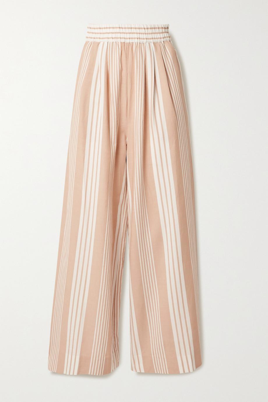 Mara Hoffman + NET SUSTAIN Paloma striped TENCEL Lyocell and organic cotton-blend wide-leg pants