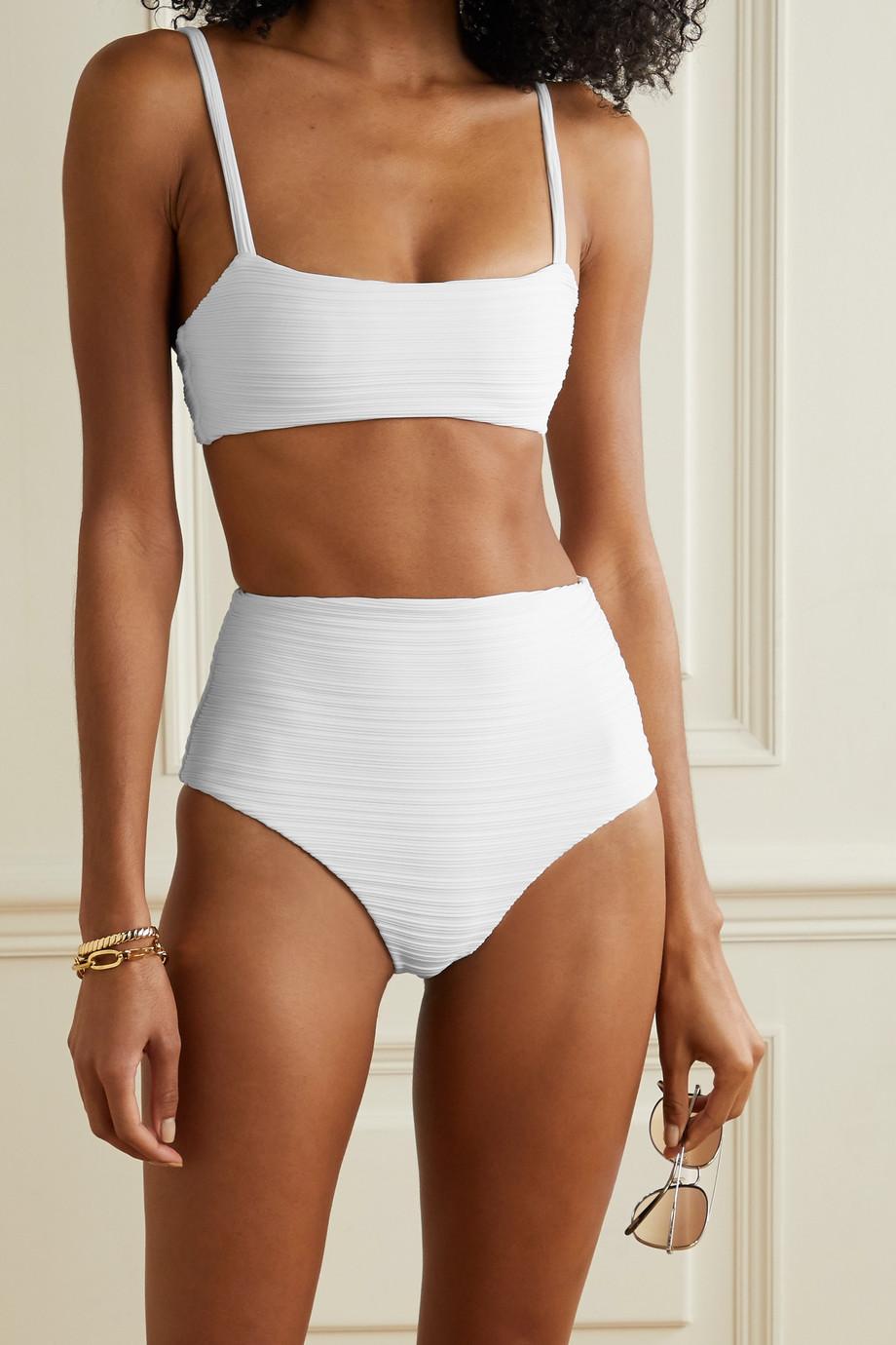 Mara Hoffman + NET SUSTAIN Sia ribbed bikini top