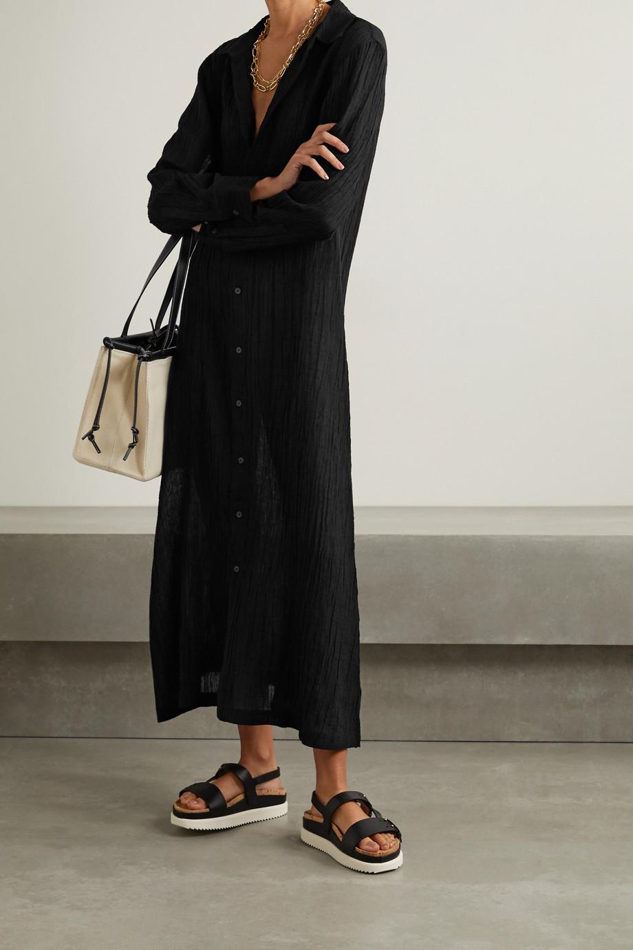 Mara Hoffman + NET SUSTAIN Cinzia crinkled organic linen and cotton-blend gauze maxi dress