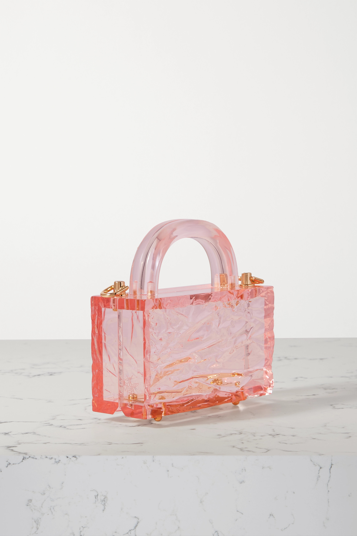 L'AFSHAR Leon Crushed Ice mini acrylic tote