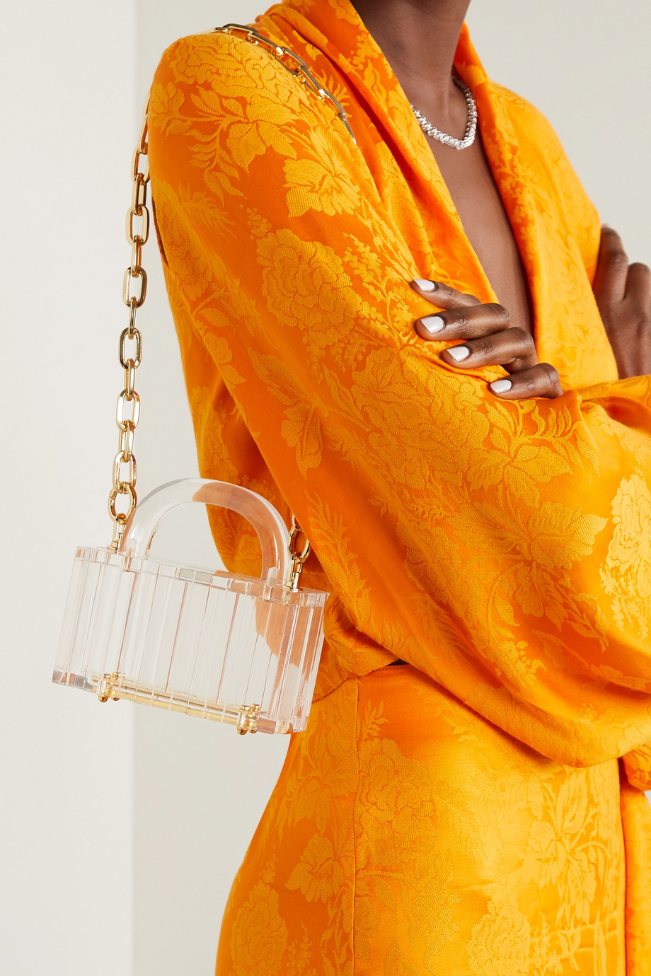 L'AFSHAR Sac à main en acrylique Pagoda Mini