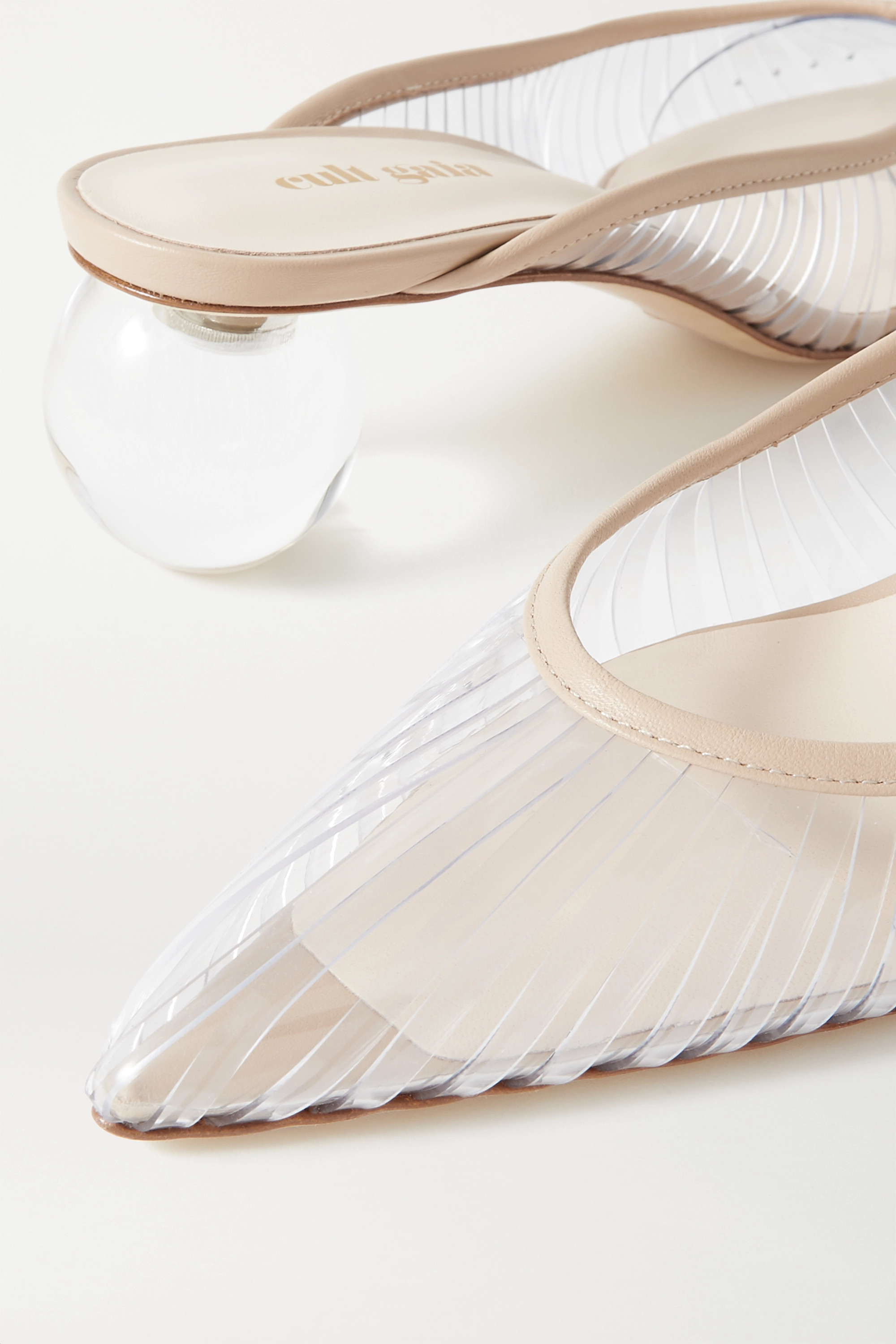Cult Gaia Alia Perspex and leather mules