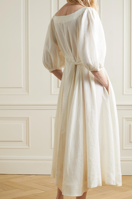 Fil De Vie + NET SUSTAIN Casablanca linen midi dress