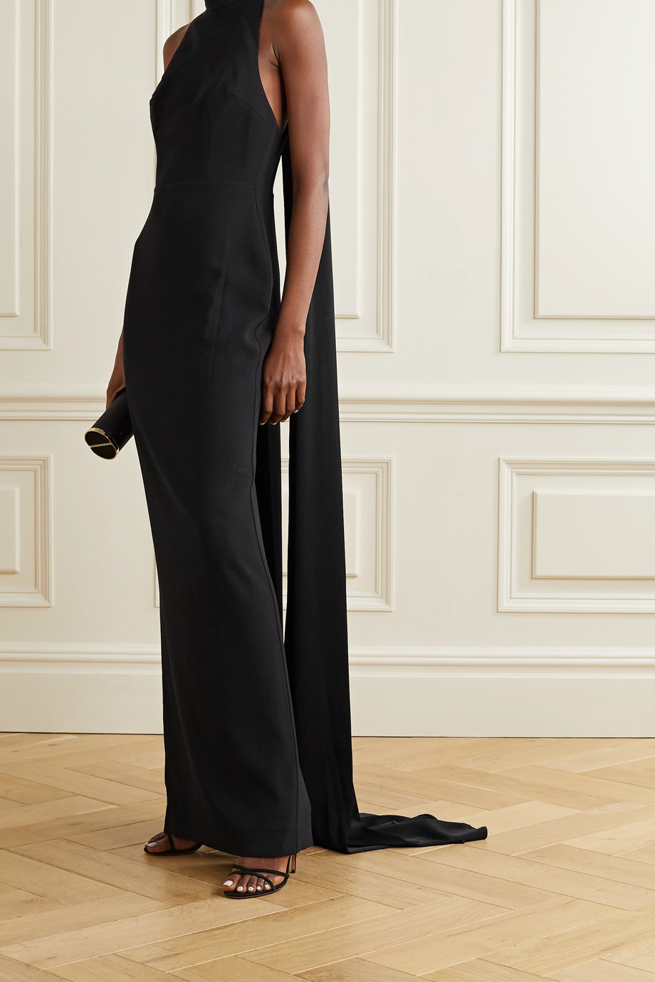 Alex Perry Langley draped crepe gown