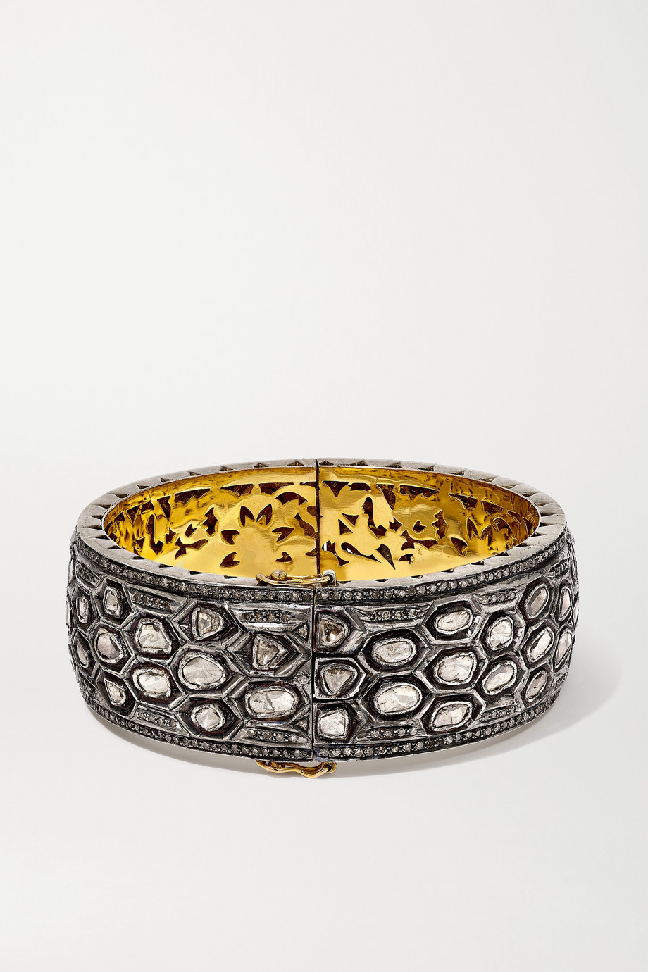 Amrapali Armband aus 18 Karat Gold mit Sterlingsilberauflage und Diamanten