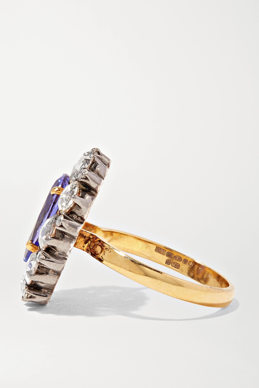 Amrapali 18-karat gold, sterling silver tanzanite and diamond ring