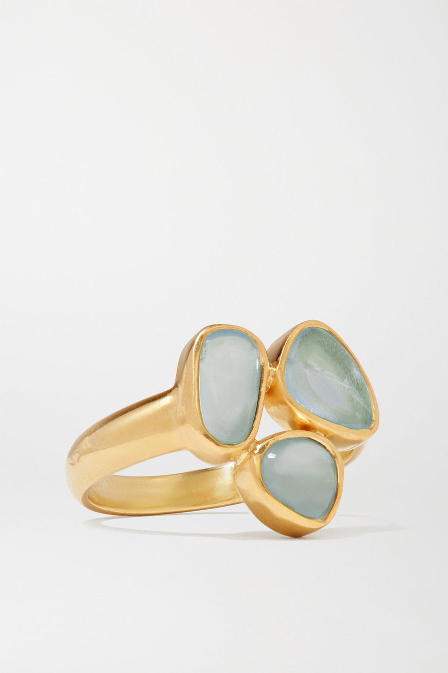 Pippa Small Ring aus 18 Karat Gold mit Aquamarinen
