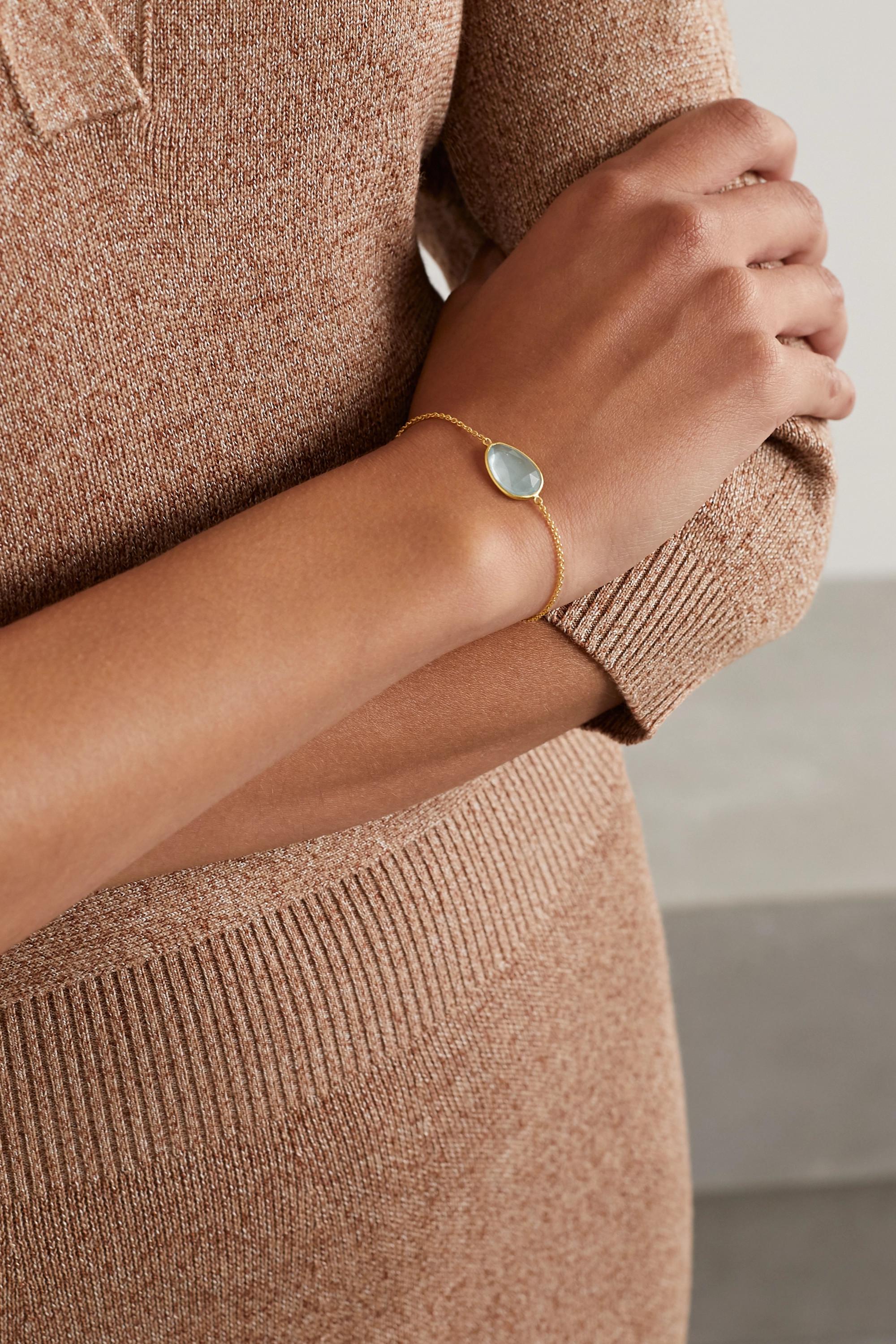 Pippa Small Bracelet en or 18carats et aigue-marine