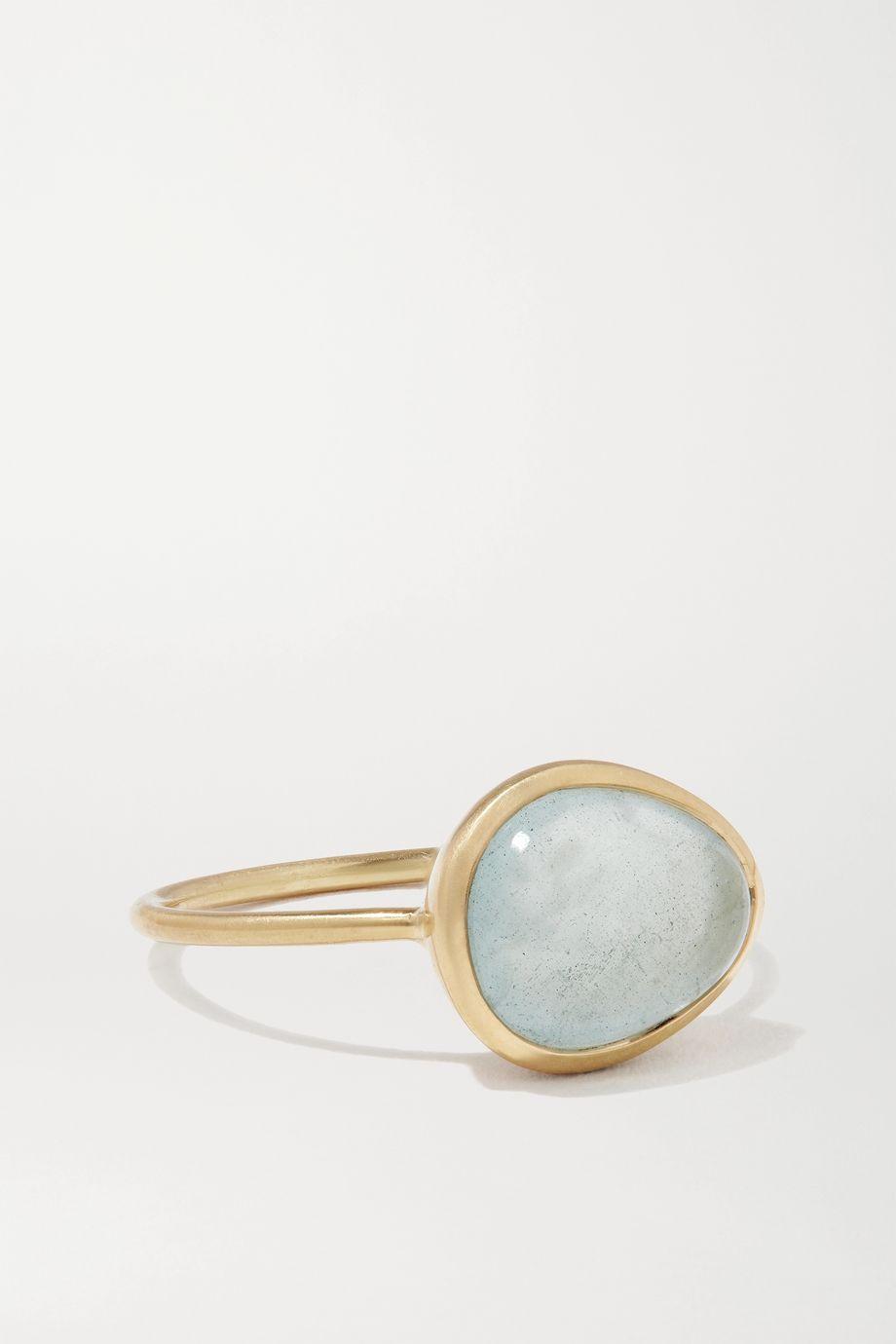 Pippa Small 18-karat gold aquamarine ring