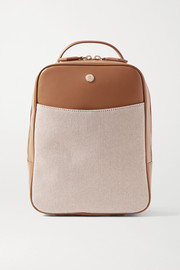 Paravel Mini City leather and canvas backpack