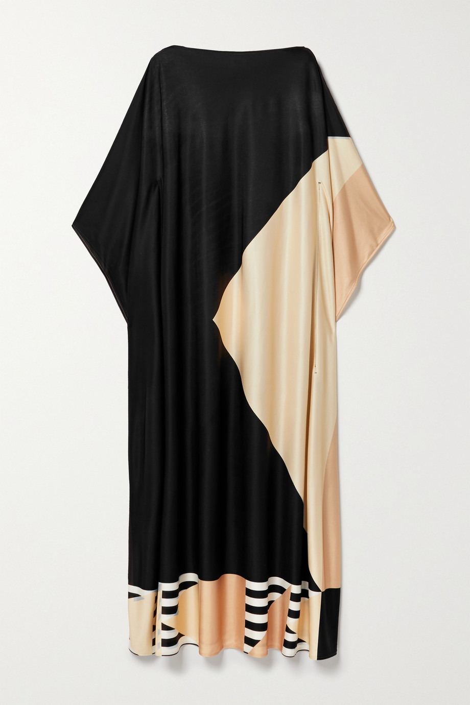 Louisa Parris + NET SUSTAIN Etta printed silk-jersey maxi dress