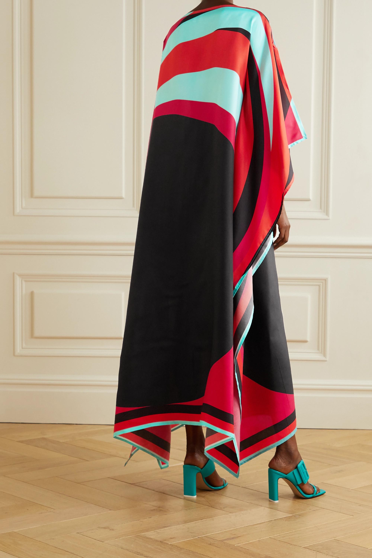 Louisa Parris + NET SUSTAIN Heuy printed silk-twill maxi dress
