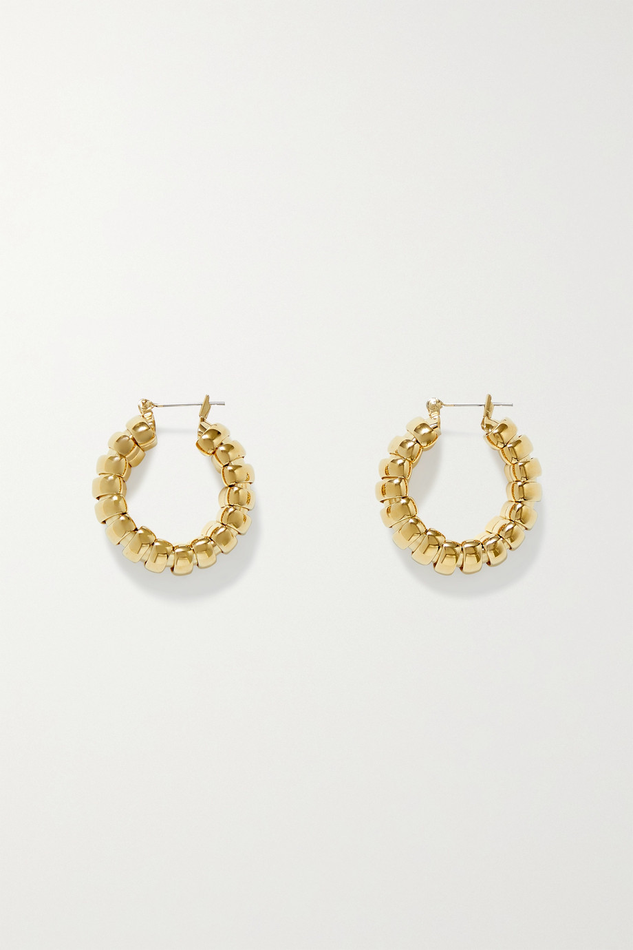 Laura Lombardi Camilla gold-plated hoop earrings