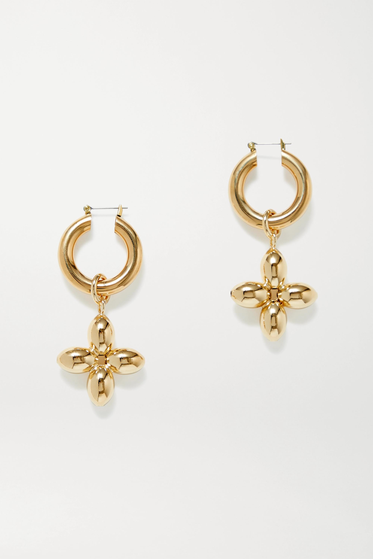 Laura Lombardi Santina gold-plated hoop earrings
