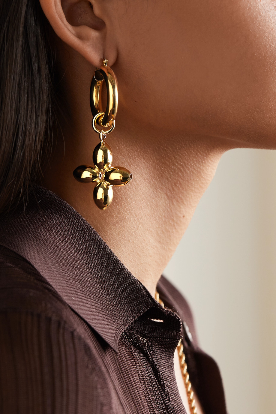 Laura Lombardi Boucles d'oreilles en plaqué or Santina