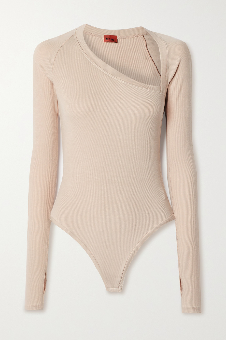 Alix NYC Stratton ribbed stretch-modal jersey thong bodysuit