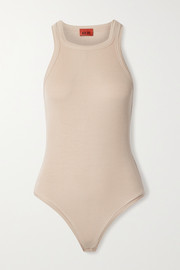 Alix NYC Austin ribbed stretch-modal jersey thong bodysuit