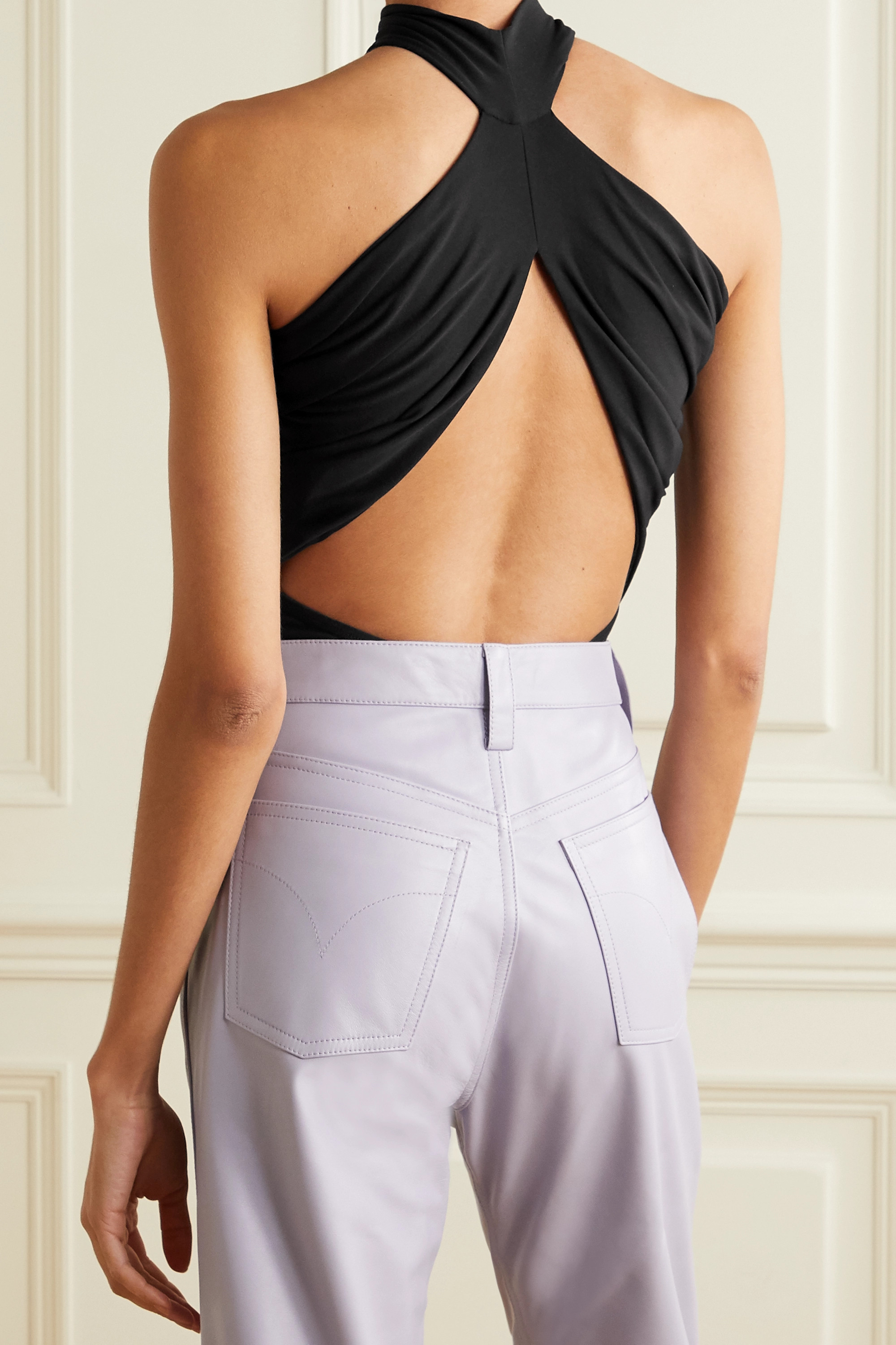 Alix NYC Bentley open-back stretch-jersey thong bodysuit
